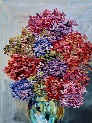 Flower Arrangement I by Maya Eventov -  sized 30x40 inches. Available from Whitewall Galleries
